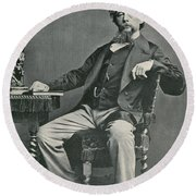 Charles Dickens, English Author Round Beach Towel by Photo Researchers