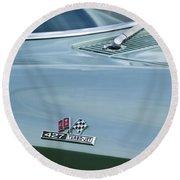 Chevrolet Corvette Emblem Round Beach Towel