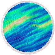 Cholesteric Liquid Crystals Round Beach Towel