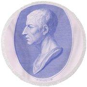 Cicero, Roman Philosopher Round Beach Towel