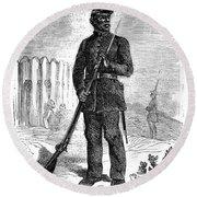 Civil War: Black Troops Round Beach Towel