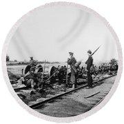 Civil War: Bull Run, 1862 Round Beach Towel