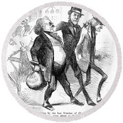 Civil War: Cartoon, 1861 Round Beach Towel