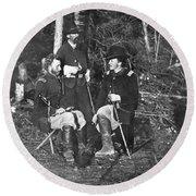 Civil War: Custer, 1862 Round Beach Towel
