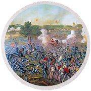 Civil War: Gettysburg, 1863 Round Beach Towel