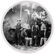 Civil War: Signal Corps Round Beach Towel