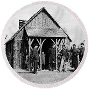 Civil War: Union Officers Round Beach Towel