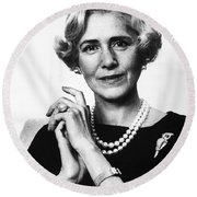Clare Boothe Luce (1903-1987) Round Beach Towel