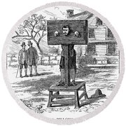 Colonial Pillory - To License For Professional Use Visit Granger.com Round Beach Towel