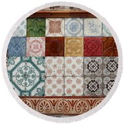 Colorful Glazed Tiles Round Beach Towel