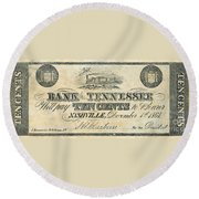 Confederate Currency Round Beach Towel