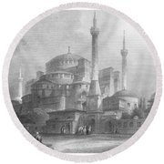 Constantinople: St. Sophia Round Beach Towel