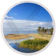 Costa Del Sol In Spain Round Beach Towel
