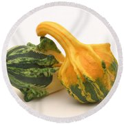 Decorative Squash Round Beach Towel