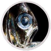Deep Sea Hatchetfish Round Beach Towel