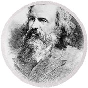 Dmitri Mendeleev, Russian Chemist Round Beach Towel
