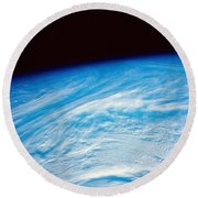 Earth From Space Round Beach Towel