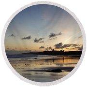 Embleton Bay Sunrise Round Beach Towel