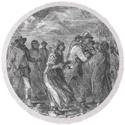 Escaping To Underground Railroad Round Beach Towel