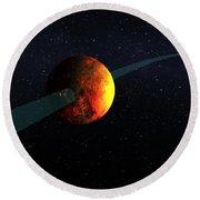 Exoplanet, Kepler-10b Round Beach Towel