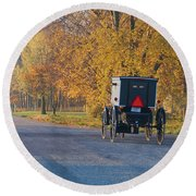 Fall Buggy Round Beach Towel
