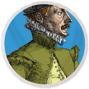 Felix Plater, Swiss Physician Round Beach Towel by Science Source