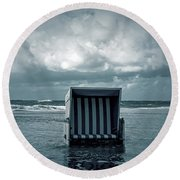 Flood Round Beach Towel by Joana Kruse