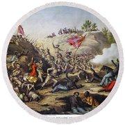 Fort Pillow Massacre, 1864 Round Beach Towel