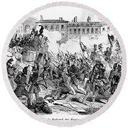France: Revolution, 1848 Round Beach Towel