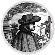 Fr�re Jacques Beaulieu, French Round Beach Towel