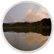 Furnas Lake Round Beach Towel