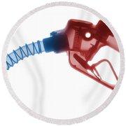 Gas Nozzle X-ray Round Beach Towel
