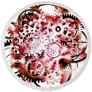 Gears Wheels Design  Round Beach Towel