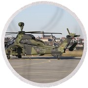 German Tiger Eurocopter At Fritzlar Round Beach Towel