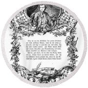 Goethe: Werther Round Beach Towel