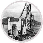 Golden Gate Bridge Work Round Beach Towel