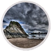 Goscar Rock Tenby Round Beach Towel