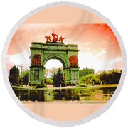 Grand Army Plaza Round Beach Towel