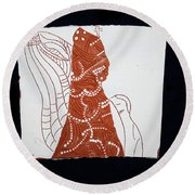 Guardian Angel Round Beach Towel