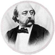 Gustave Flaubert (1821-1880) Round Beach Towel