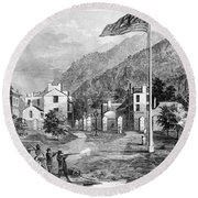 Harpers Ferry Insurrection, 1859 Round Beach Towel by Photo Researchers