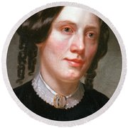 Harriet Beecher Stowe, American Round Beach Towel by Photo Researchers