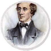 Henry David Thoreau Round Beach Towel