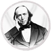 Herbert Spencer, English Polymath Round Beach Towel by Science Source