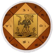Horoscope Types, Engel, 1488 Round Beach Towel by Science Source