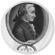 Immanuel Kant (1724-1804) Round Beach Towel