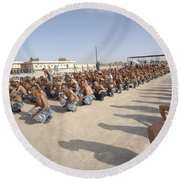 Iraqi Police Cadets Being Trained Round Beach Towel by Andrew Chittock