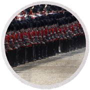 Irish Guards March Pass During The Last Round Beach Towel by Andrew Chittock