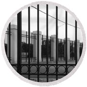 Iron And Pillars Round Beach Towel