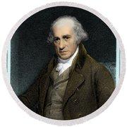 James Watt, Scottish Inventor Round Beach Towel